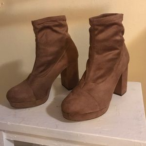 faux suede sock boots!